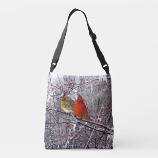 Christmas Cardinals Crossbody Bag