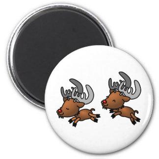 Christmas Caribou Magnet