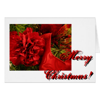 Christmas Carnations Card