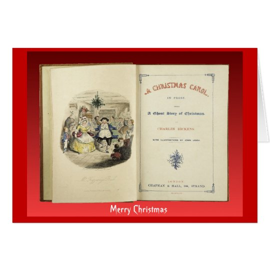 Christmas Carol, Frontispiece from First Edition Card