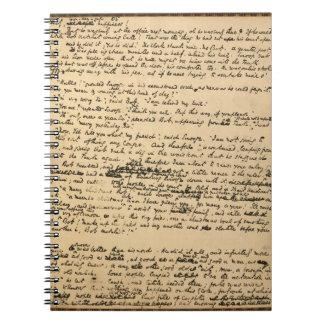 Christmas Carol Original Manuscript Notebook