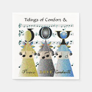 Christmas Carolers Angels Choir Singers Holidays Paper Napkin