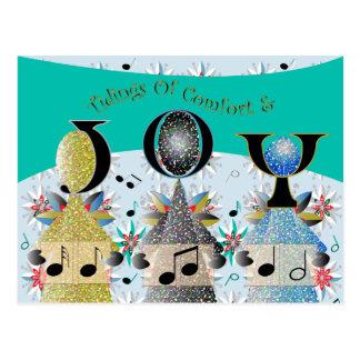 Christmas Carolers Angels Singers Postcard