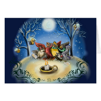 Christmas Caroling Bird Card