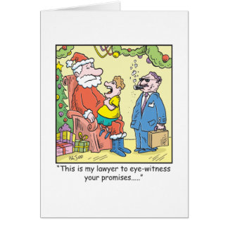 Christmas Cartoon Santa's Promises Card