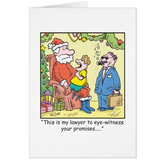 Christmas Cartoon Santa's Promises Card