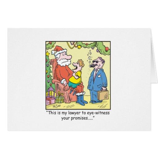 Christmas Cartoon Santa's Promises Cards
