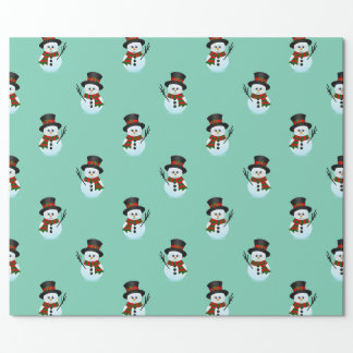 christmas cartoon snowmen pattern