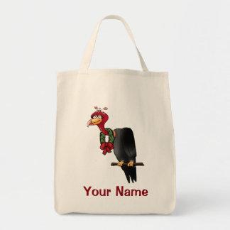 Christmas Cartoon Vulture Tote Bag