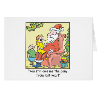 Christmas Cartoons Santa Being Grilled Cards