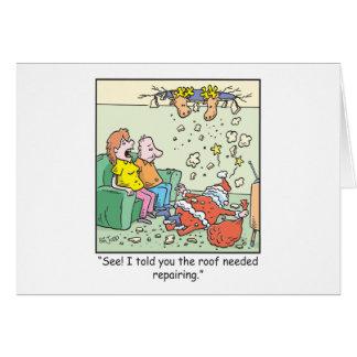 Christmas Cartoons Santa Drops By Greeting Cards