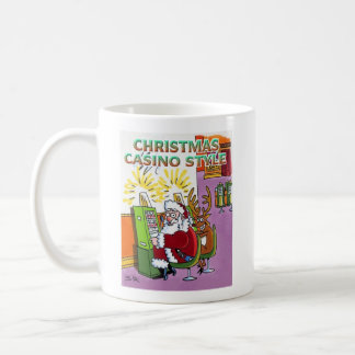 Christmas Casino Style right hand coffee mug