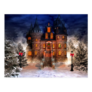 Christmas Castle Postcard