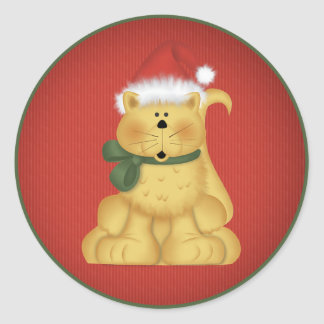 Christmas Cat 1  - Holiday Stickers