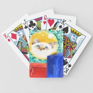 Christmas Cat Bicycle Playing Cards