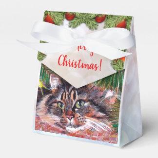 Christmas Cat Favor Box