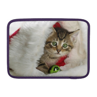 Christmas cat -kitten cat - cute cats sleeve for MacBook air
