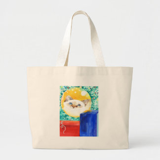 Christmas Cat Large Tote Bag
