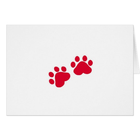 Christmas Cat Paws Card