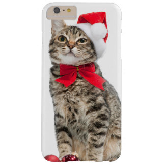 Christmas cat - santa claus cat - cute kitten barely there iPhone 6 plus case