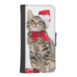 Christmas cat - santa claus cat - cute kitten iPhone SE/5/5s wallet case