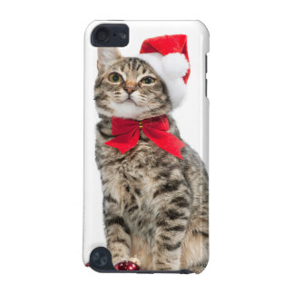 Christmas cat - santa claus cat - cute kitten iPod touch (5th generation) cases