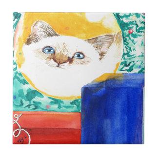Christmas Cat Tile