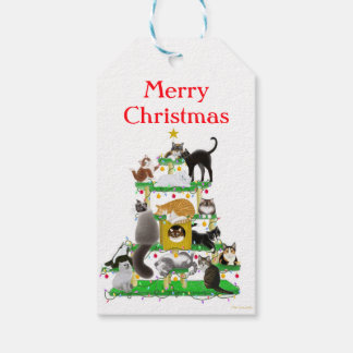 Christmas Cat Tree Gift Tags