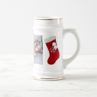 Christmas catches beer stein