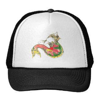 Christmas CatFish (white background) Mesh Hats