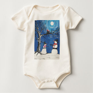 Christmas Cats In Love Baby Bodysuit