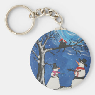 Christmas Cats In Love Keychain