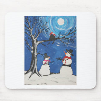 Christmas Cats In Love Mouse Pad