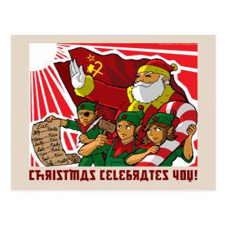 Christmas celebrates you! postcard