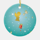 CHRISTMAS CELEBRATION GOLDEN ANGELS AND BELLS CHRISTMAS ORNAMENTS