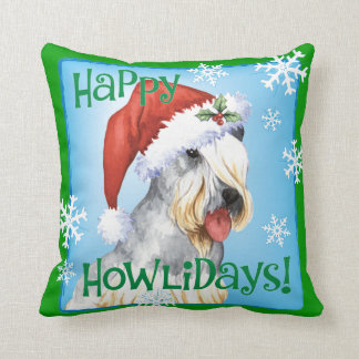 Christmas Cesky Terrier Throw Pillow