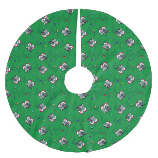 Christmas Cesky Terriers Brushed Polyester Tree Skirt