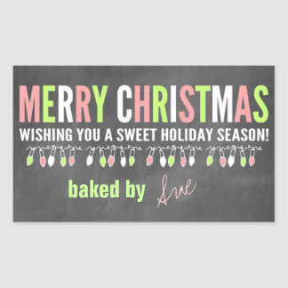 Christmas Chalkboard Baked Goods Labels