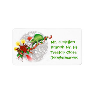 Christmas Chameleon Label