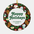 Christmas Characters Ceramic Ornament