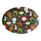 Christmas Characters Porcelain Serving Platter