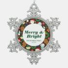 Christmas Characters Snowflake Pewter Christmas Ornament