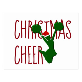 Christmas Cheer Cheerleader Holiday Spirit Postcard