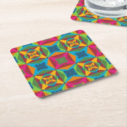 Christmas Cheer Square Paper Coaster