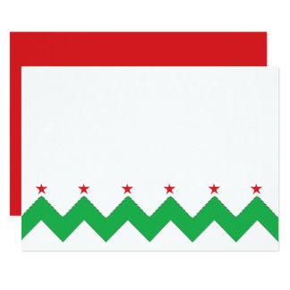"Christmas Chevron 7"" x 5""  Thank You/2 sided/Flat Card"
