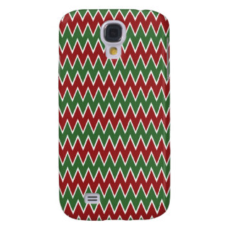 Christmas Chevron Red and Green Zigzag Pattern