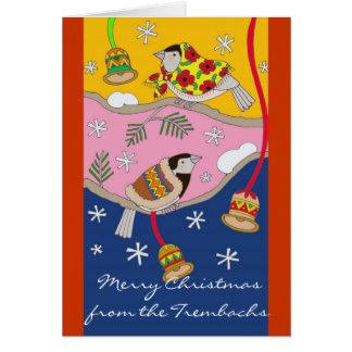 Christmas Chickadees by Vera Trembach Card