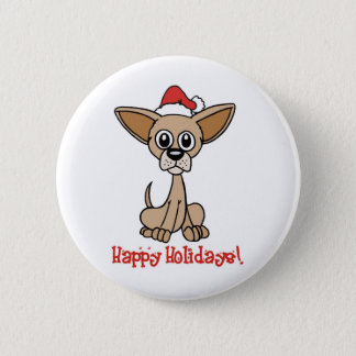 Christmas Chihuahua 2 Inch Round Button