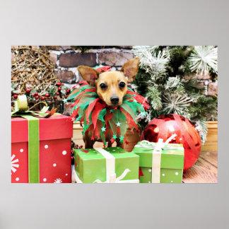 Christmas - Chihuahua - Daisy Poster