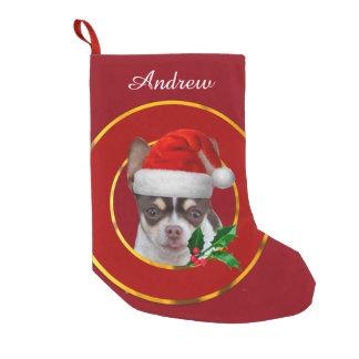 Christmas Chihuahua dog Small Christmas Stocking